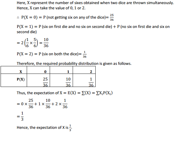 NCERT Solutions for Class 12 Maths Chapter 13 Probability Ex 13.4 20