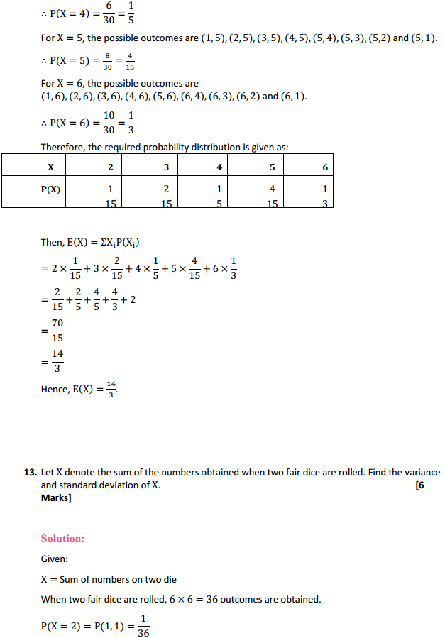 NCERT Solutions for Class 12 Maths Chapter 13 Probability Ex 13.4 22