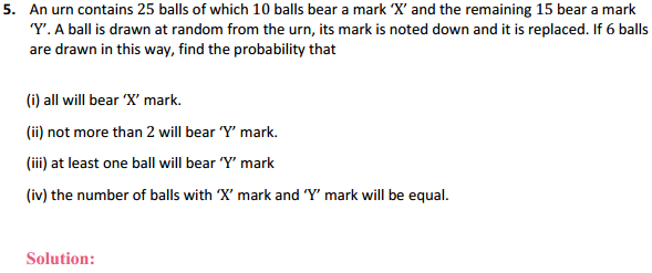 NCERT Solutions for Class 12 Maths Chapter 13 Probability Miscellaneous Exercise 5