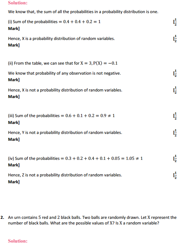 NCERT Solutions for Class 12 Maths Chapter 13 Probability Ex 13.4 2