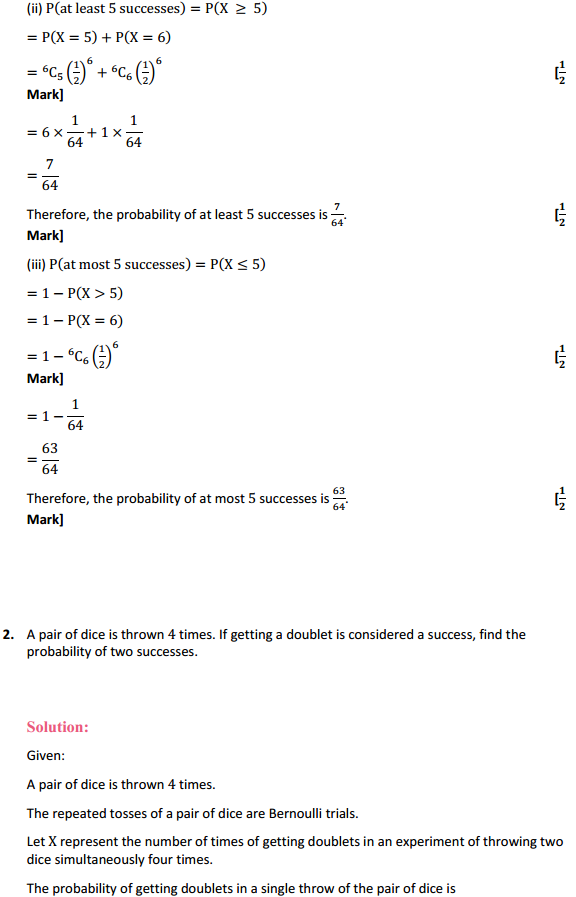NCERT Solutions for Class 12 Maths Chapter 13 Probability Ex 13.5 2