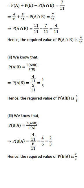 NCERT Solutions for Class 12 Maths Chapter 13 Probability Ex 13.1 4