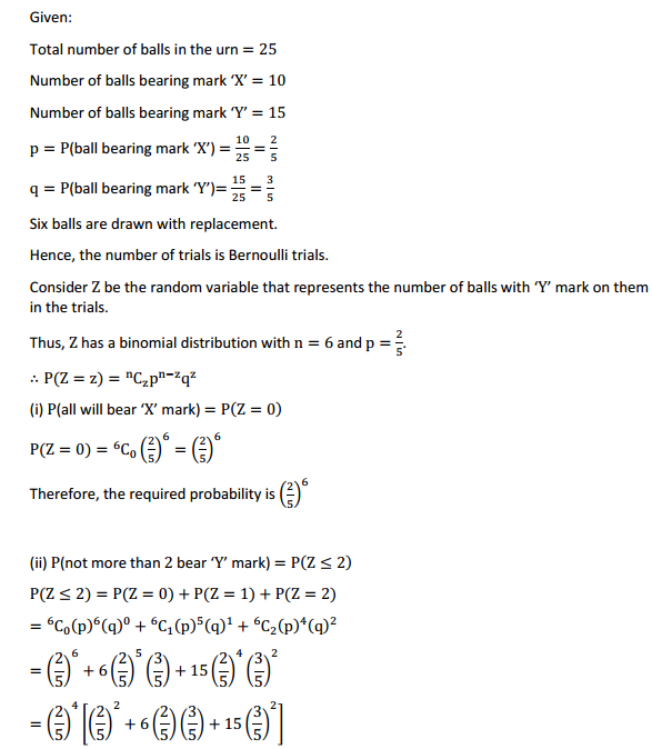 NCERT Solutions for Class 12 Maths Chapter 13 Probability Miscellaneous Exercise 6