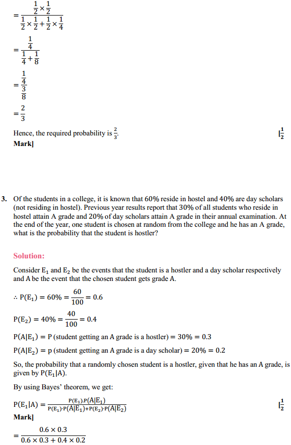 NCERT Solutions for Class 12 Maths Chapter 13 Probability Ex 13.3 3