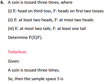 NCERT Solutions for Class 12 Maths Chapter 13 Probability Ex 13.1 5