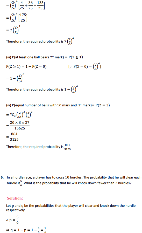 NCERT Solutions for Class 12 Maths Chapter 13 Probability Miscellaneous Exercise 7