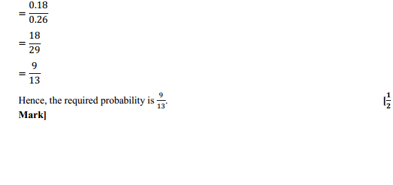 NCERT Solutions for Class 12 Maths Chapter 13 Probability Ex 13.3 4