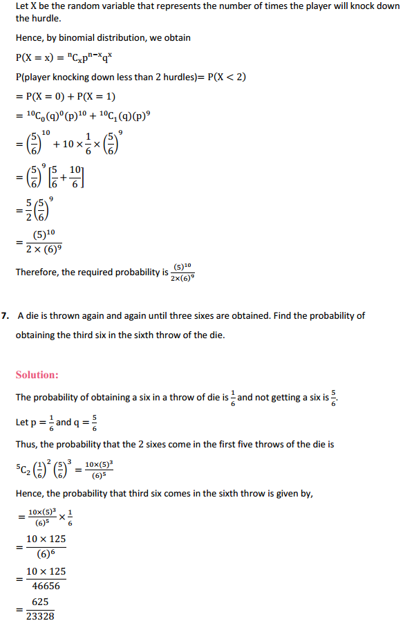NCERT Solutions for Class 12 Maths Chapter 13 Probability Miscellaneous Exercise 8