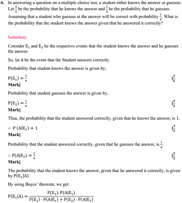 NCERT Solutions for Class 12 Maths Chapter 13 Probability Ex 13.3 5