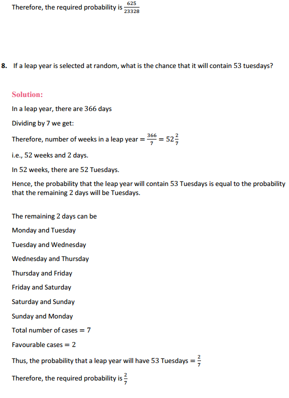 NCERT Solutions for Class 12 Maths Chapter 13 Probability Miscellaneous Exercise 9