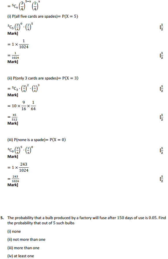 NCERT Solutions for Class 12 Maths Chapter 13 Probability Ex 13.5 5