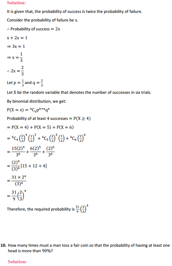 NCERT Solutions for Class 12 Maths Chapter 13 Probability Miscellaneous Exercise 11