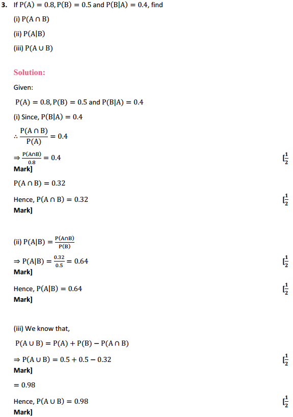 NCERT Solutions for Class 12 Maths Chapter 13 Probability Ex 13.1 2