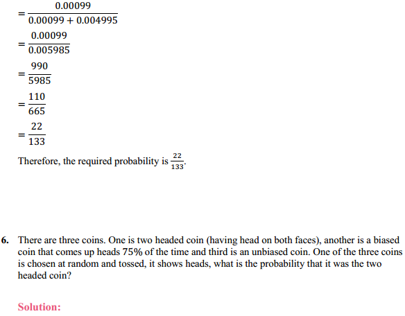 NCERT Solutions for Class 12 Maths Chapter 13 Probability Ex 13.3 8