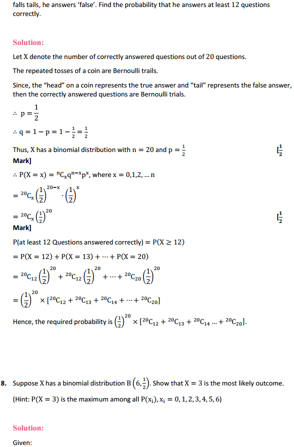 NCERT Solutions for Class 12 Maths Chapter 13 Probability Ex 13.5 9