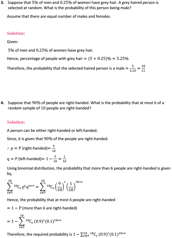 NCERT Solutions for Class 12 Maths Chapter 13 Probability Miscellaneous Exercise 4