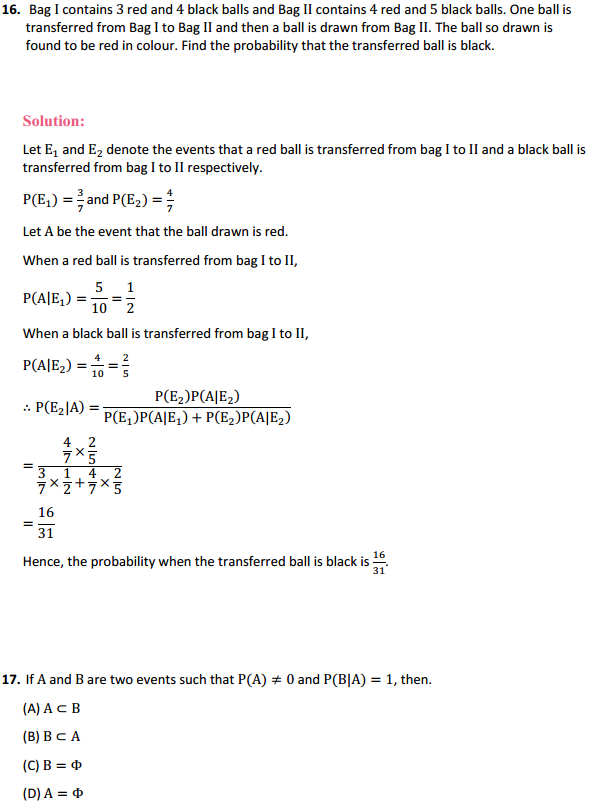 NCERT Solutions for Class 12 Maths Chapter 13 Probability Miscellaneous Exercise 23
