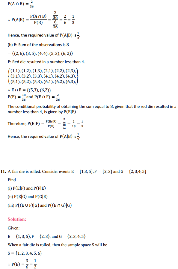 NCERT Solutions for Class 12 Maths Chapter 13 Probability Ex 13.1 13