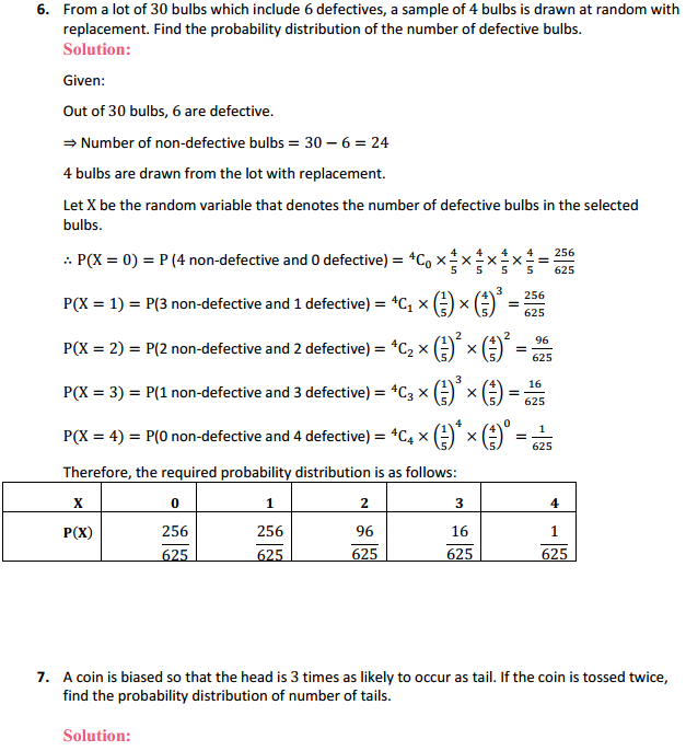 NCERT Solutions for Class 12 Maths Chapter 13 Probability Ex 13.4 11