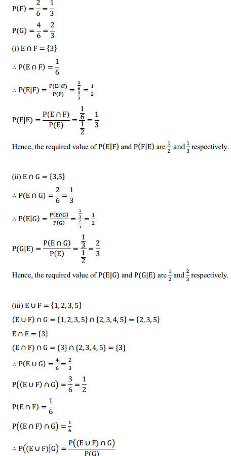 NCERT Solutions for Class 12 Maths Chapter 13 Probability Ex 13.1 14