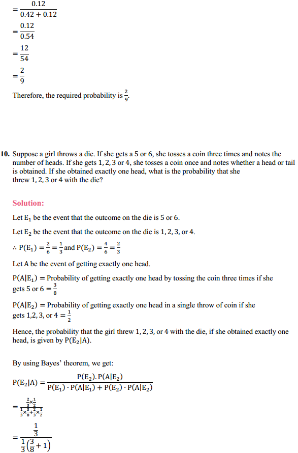 NCERT Solutions for Class 12 Maths Chapter 13 Probability Ex 13.3 13