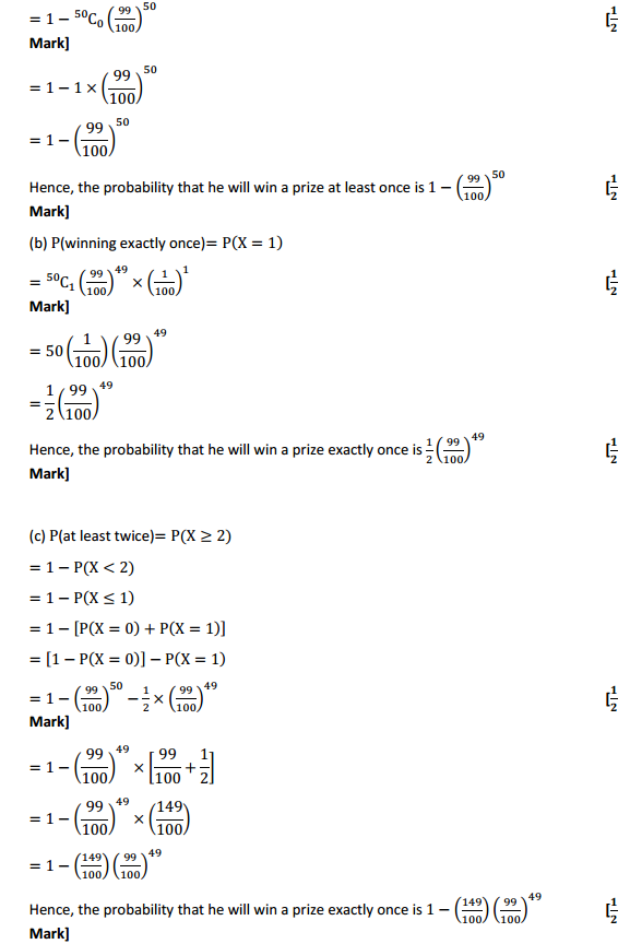NCERT Solutions for Class 12 Maths Chapter 13 Probability Ex 13.5 13