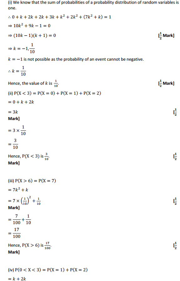 NCERT Solutions for Class 12 Maths Chapter 13 Probability Ex 13.4 14