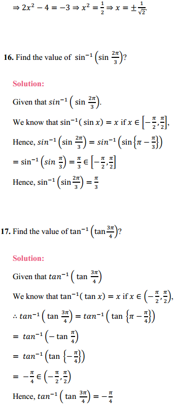 NCERT Solutions for Class 12 Maths Chapter 2 Inverse Trigonometric Functions Ex 2.2 9.
