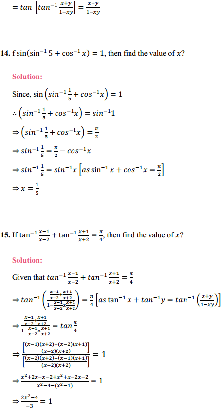 NCERT Solutions for Class 12 Maths Chapter 2 Inverse Trigonometric Functions Ex 2.2 8