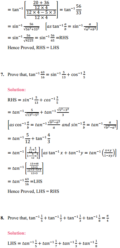 NCERT Solutions for Class 12 Maths Chapter 2 Inverse Trigonometric Functions Miscellaneous Exercise 4