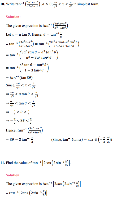 NCERT Solutions for Class 12 Maths Chapter 2 Inverse Trigonometric Functions Ex 2.2 6