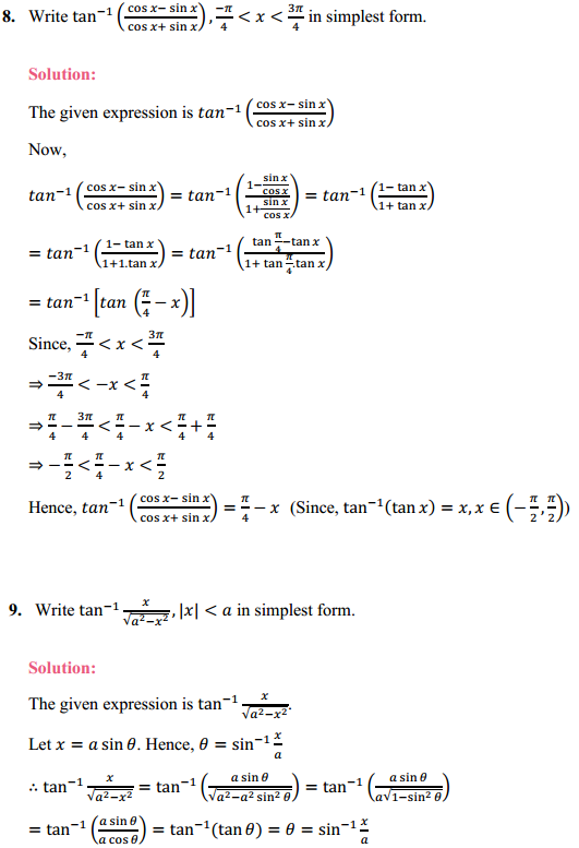 NCERT Solutions for Class 12 Maths Chapter 2 Inverse Trigonometric Functions Ex 2.2 5