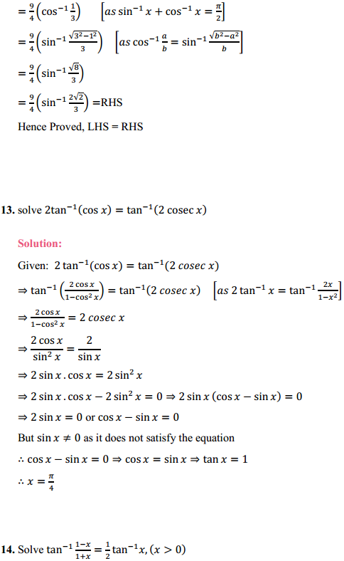 NCERT Solutions for Class 12 Maths Chapter 2 Inverse Trigonometric Functions Miscellaneous Exercise 8
