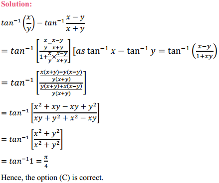 NCERT Solutions for Class 12 Maths Chapter 2 Inverse Trigonometric Functions Miscellaneous Exercise 11