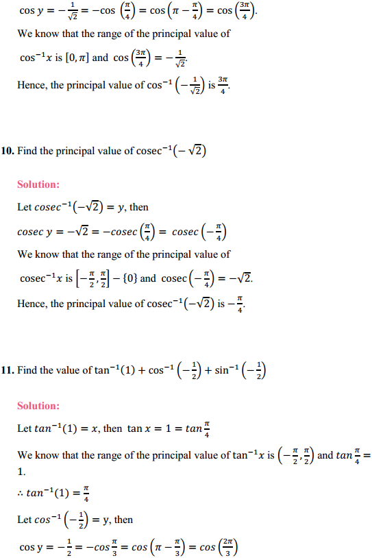 NCERT Solutions for Class 12 Maths Chapter 2 Inverse Trigonometric Functions Ex 2.1 4