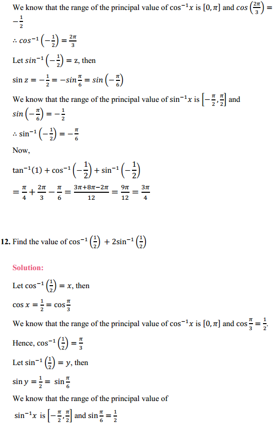 NCERT Solutions for Class 12 Maths Chapter 2 Inverse Trigonometric Functions Ex 2.1 5