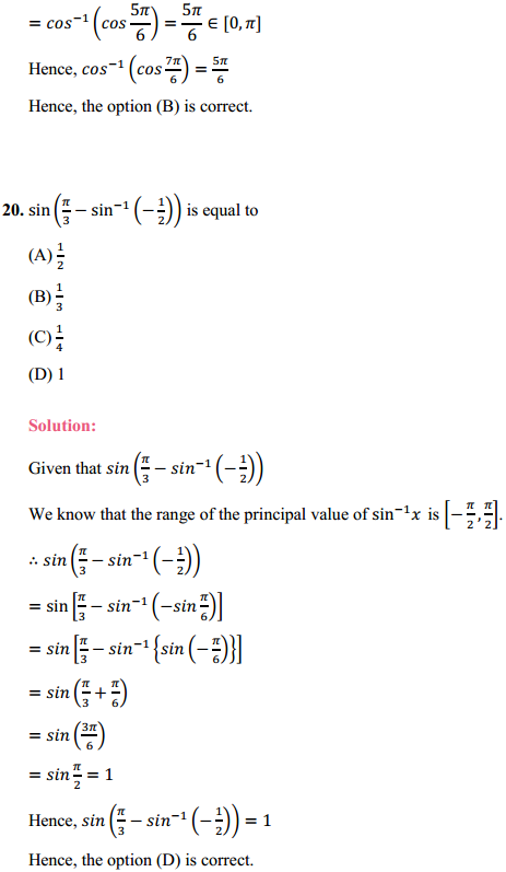 NCERT Solutions for Class 12 Maths Chapter 2 Inverse Trigonometric Functions Ex 2.2 11