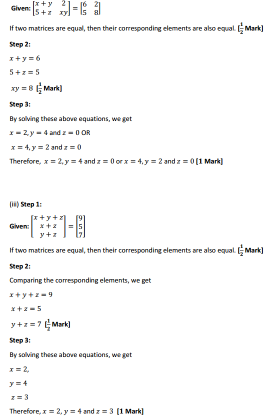 NCERT Solutions for Class 12 Maths Chapter 3 Matrices Ex 3.1 7