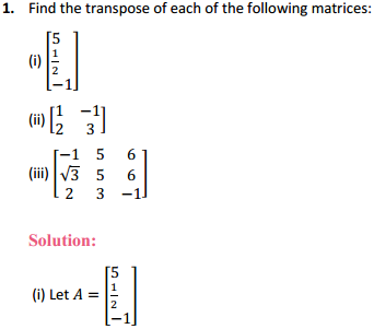 NCERT Solutions for Class 12 Maths Chapter 3 Matrices Ex 3.3 1