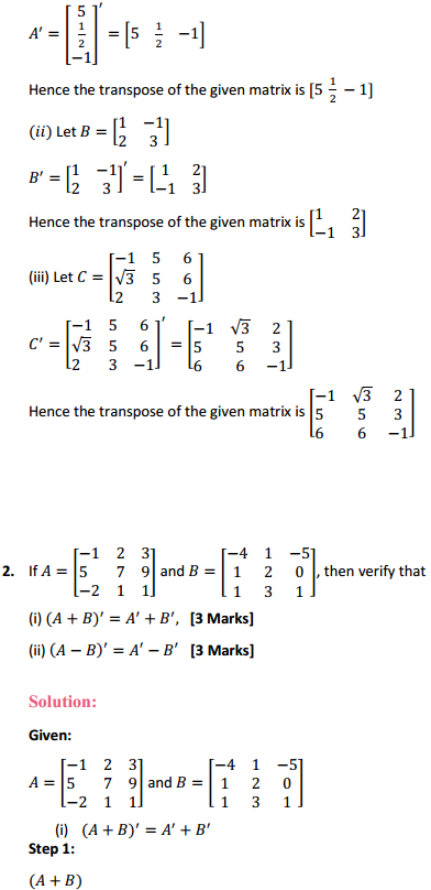 NCERT Solutions for Class 12 Maths Chapter 3 Matrices Ex 3.3 2