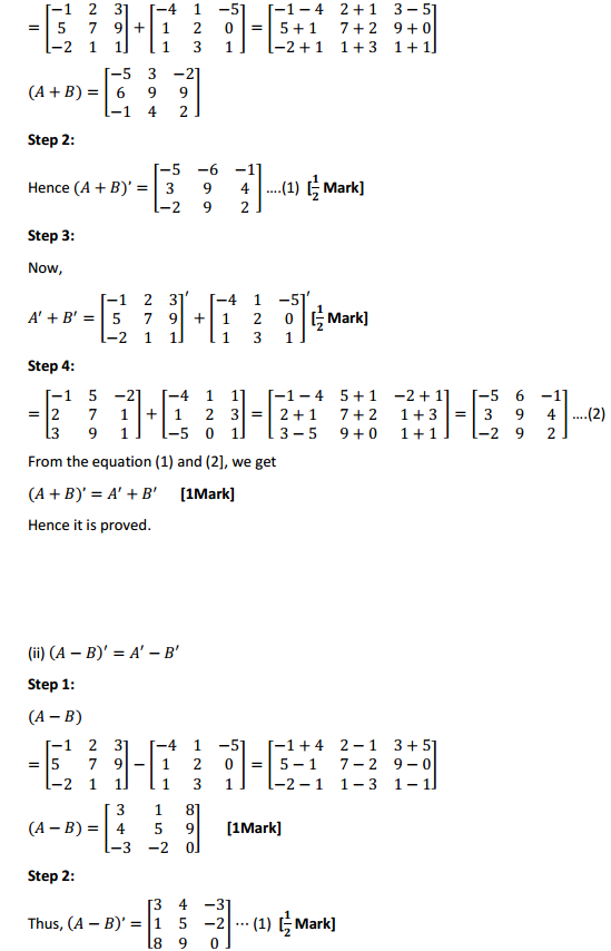 NCERT Solutions for Class 12 Maths Chapter 3 Matrices Ex 3.3 3