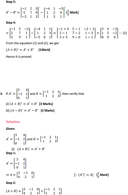 NCERT Solutions for Class 12 Maths Chapter 3 Matrices Ex 3.3 4
