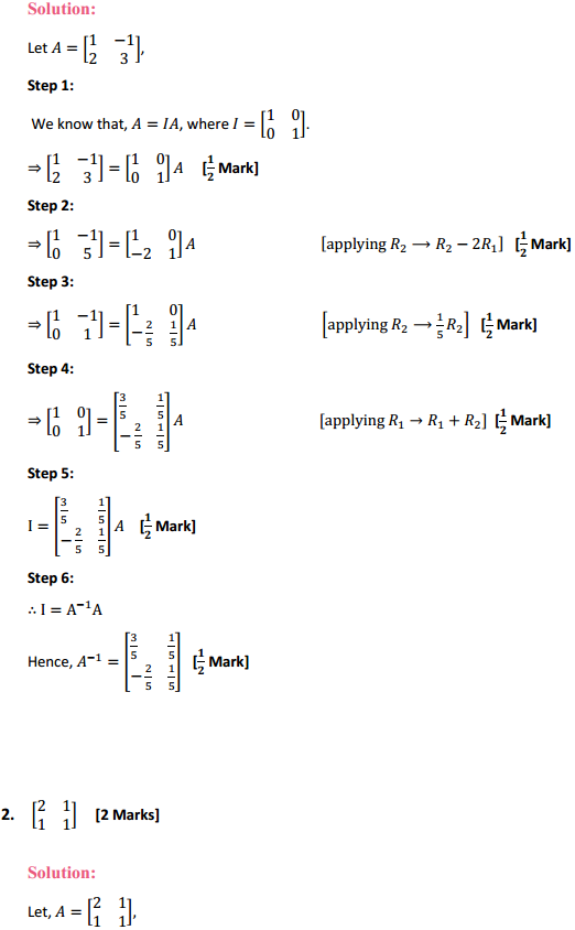 NCERT Solutions for Class 12 Maths Chapter 3 Matrices Ex 3.4 2