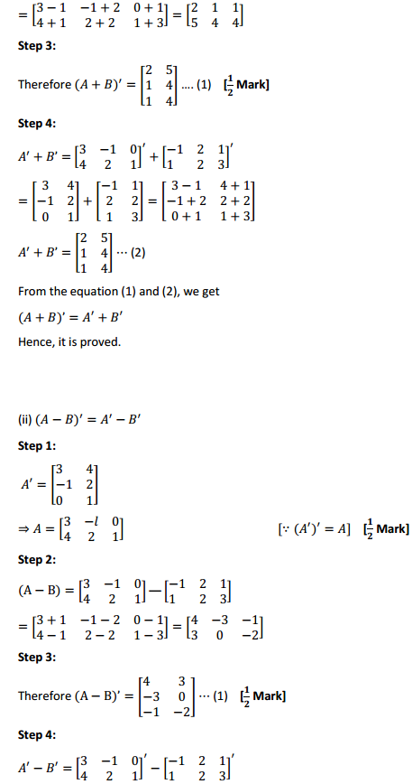 NCERT Solutions for Class 12 Maths Chapter 3 Matrices Ex 3.3 5
