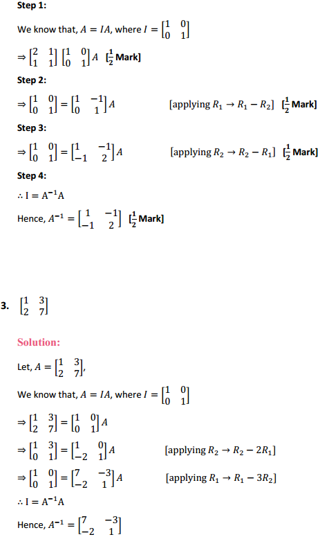 NCERT Solutions for Class 12 Maths Chapter 3 Matrices Ex 3.4 3