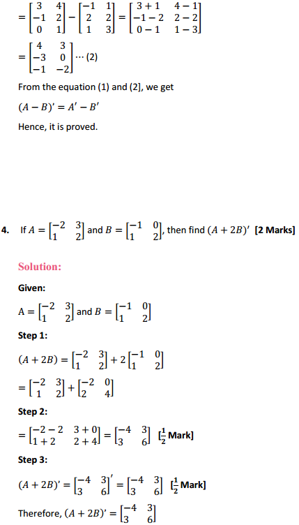 NCERT Solutions for Class 12 Maths Chapter 3 Matrices Ex 3.3 6