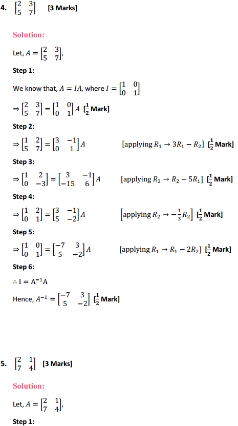 NCERT Solutions for Class 12 Maths Chapter 3 Matrices Ex 3.4 4