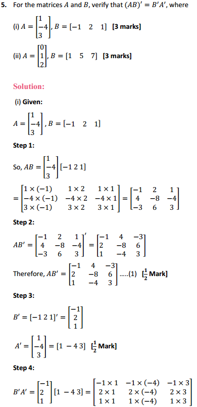 NCERT Solutions for Class 12 Maths Chapter 3 Matrices Ex 3.3 7