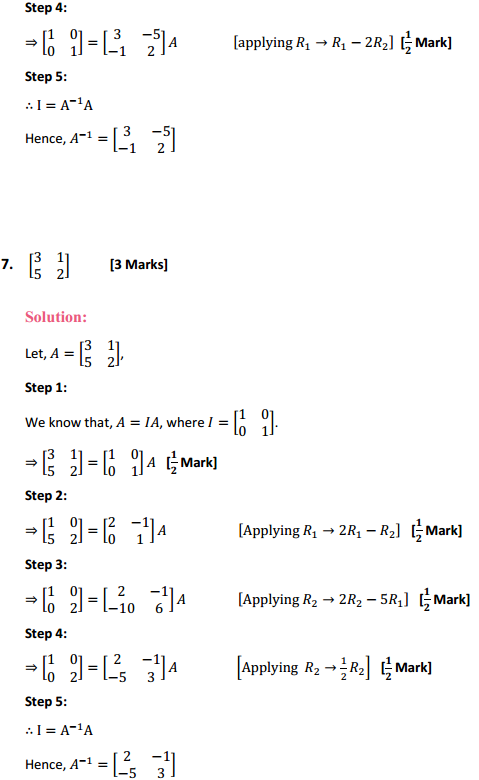 NCERT Solutions for Class 12 Maths Chapter 3 Matrices Ex 3.4 6