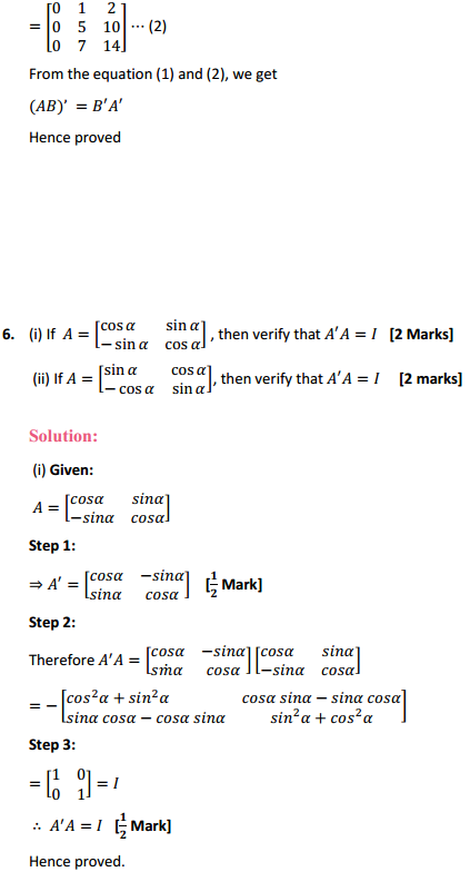 NCERT Solutions for Class 12 Maths Chapter 3 Matrices Ex 3.3 9